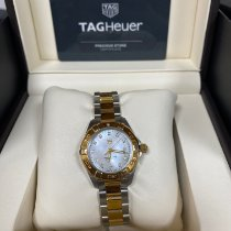 TAG Heuer Aquaracer Lady pre-owned 27mm Mother of pearl Gold/Steel