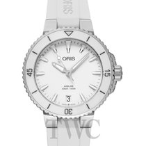 Oris Aquis Date Steel White