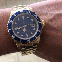 Rolex Or jaune Remontage automatique Violet Sans chiffres 40mm occasion Submariner Date