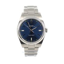 Rolex Oyster Perpetual 39 pre-owned 39mm Blue Steel