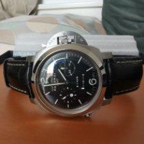 Panerai Steel Manual winding Black Arabic numerals 44mm pre-owned Luminor 1950 8 Days Chrono Monopulsante GMT