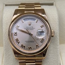 Rolex Or rose Remontage automatique Noir 36mm occasion Day-Date 36