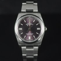 Rolex Oyster Perpetual 36 Acier 36mm Violet Arabes France, Paris