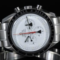 Omega Speedmaster Professional Moonwatch occasion 42mm Blanc Chronographe Acier