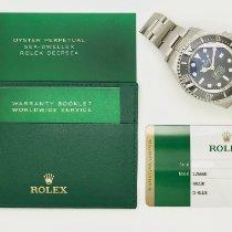 Rolex Sea-Dweller Deepsea Staal 44mm Blauw Geen cijfers