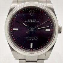 Rolex Oyster Perpetual 39 pre-owned 39mm Purple Steel