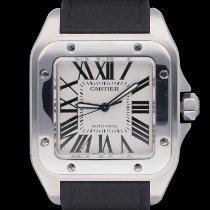 Cartier Santos 100 Zeljezo 38mm Bjel Rimski brojevi