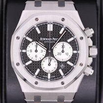 Audemars Piguet Royal Oak Chronograph Zeljezo 41mm Crn Bez brojeva