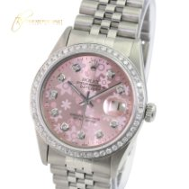 Rolex Steel Automatic Pink No numerals 36mm pre-owned Datejust