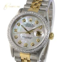 Rolex Datejust 16233 Meget god Guld/Stål 36mm Automatisk
