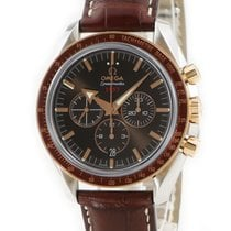 Omega Or rouge Remontage automatique Brun 42mm occasion Speedmaster Broad Arrow