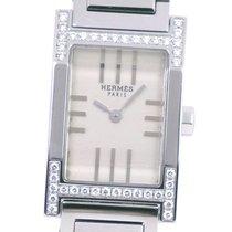 Hermès Tandem Steel 29.5mm Silver