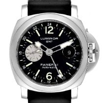 Panerai Luminor GMT Automatic pre-owned 44mm Black Date GMT Rubber