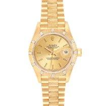 Rolex Lady-Datejust Gelbgold 26mm Champagnerfarben