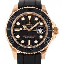 Rolex Yacht-Master 40 Złoto różowe 40mm Czarny Bez cyfr
