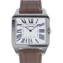Cartier 2651 White gold Santos Dumont 35mm pre-owned