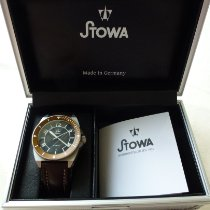 Stowa new Automatic Display back Central seconds Luminous numerals Luminous hands Chronometer Luminous indices 42mm Steel Sapphire crystal