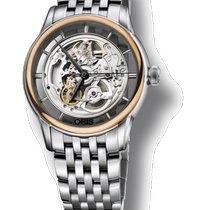 Oris Artelier Translucent Skeleton nuevo Automático Reloj con estuche y documentos originales 01 734 7684 6351-07 8 21 77