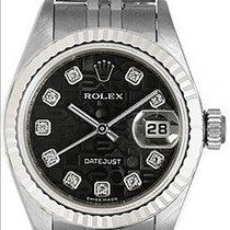 Rolex Lady-Datejust 26mm Negro Sin cifras