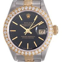Rolex Lady-Datejust 26mm Чёрный Без цифр