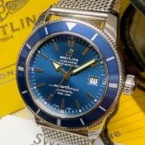 Breitling Superocean Héritage 42 Stahl 42mm Blau Keine Ziffern