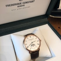 Frederique Constant Manufacture Slimline Moonphase Or/Acier 42mm Argent France, PARIS