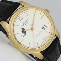 Glashütte Original Senator Panorama Date Moon Phase Or rose 39mm Argent Arabes
