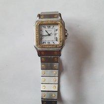 Cartier Santos Galbée Золото/Cталь 32mm Cеребро Римские