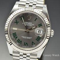 Rolex Datejust Stahl 41mm Grau Keine Ziffern