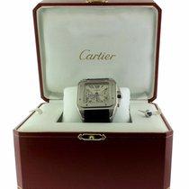 Cartier Santos 100 używany 41.5 mmmm Szampański Chronograf Data Skóra