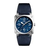 Bell & Ross Steel Automatic Blue Arabic numerals 42mm new BR 03-92 Steel