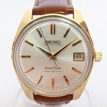 Seiko Yellow gold Manual winding Silver 36mm pre-owned Grand Seiko
