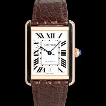 Cartier Tank Solo Gold/Stahl 41mm Silber