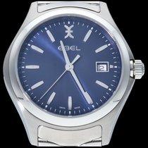 Ebel Wave Steel 40mm Blue No numerals