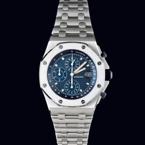 Audemars Piguet Royal Oak Offshore Chronograph Stahl 42mm Blau Keine Ziffern