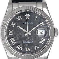 Rolex Datejust 116139 Sehr gut Weißgold 36mm Automatik