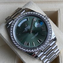 Rolex Day-Date 40 White gold Green