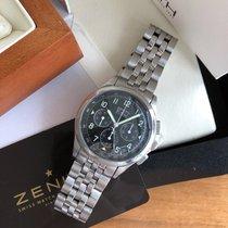 Zenith El Primero Chronograph Steel 38mm Black Arabic numerals