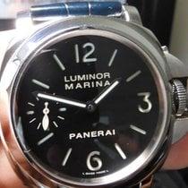 Panerai Luminor Marina pre-owned 44mm Black Crocodile skin