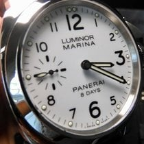 Panerai Luminor Marina 8 Days Acier 44mm Blanc
