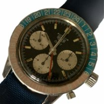 Heuer Steel 40mm Manual winding Heuer 2466C GMT pre-owned