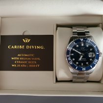 Philip Watch Steel Automatic Blue No numerals 42mm new Caribe