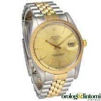 Rolex Oyster Perpetual Date Or/Acier 34,00mm Champagne Sans chiffres