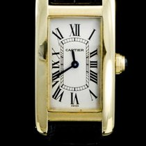 Cartier Tank Américaine Yellow gold 19mm White Roman numerals