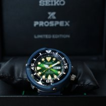 Seiko Ceramic Automatic Green Arabic numerals pre-owned Prospex