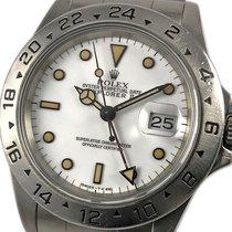 Rolex Explorer II occasion 40mm Blanc Date GMT Acier