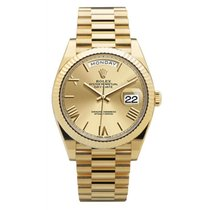 Rolex Day-Date 40 Or jaune 40mm Champagne Romains