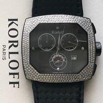 Korloff nuevo Cuarzo Pequeño segundero Esfera con guilloques Con piedras preciosas y diamantes Acero Cristal de zafiro