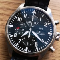 IWC Pilot Chronograph Acero Negro Arábigos España, Madrid