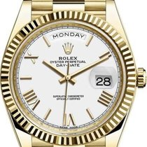 Rolex Day-Date 40 Yellow gold 40mm White United Kingdom, London